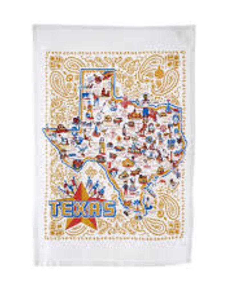 "Texas Dish Towel 17.5""x27"""