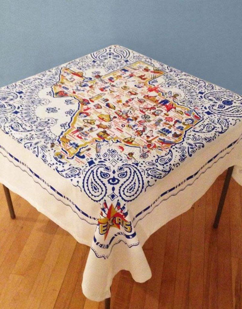 Texas Tablecloth Fabric 52x52