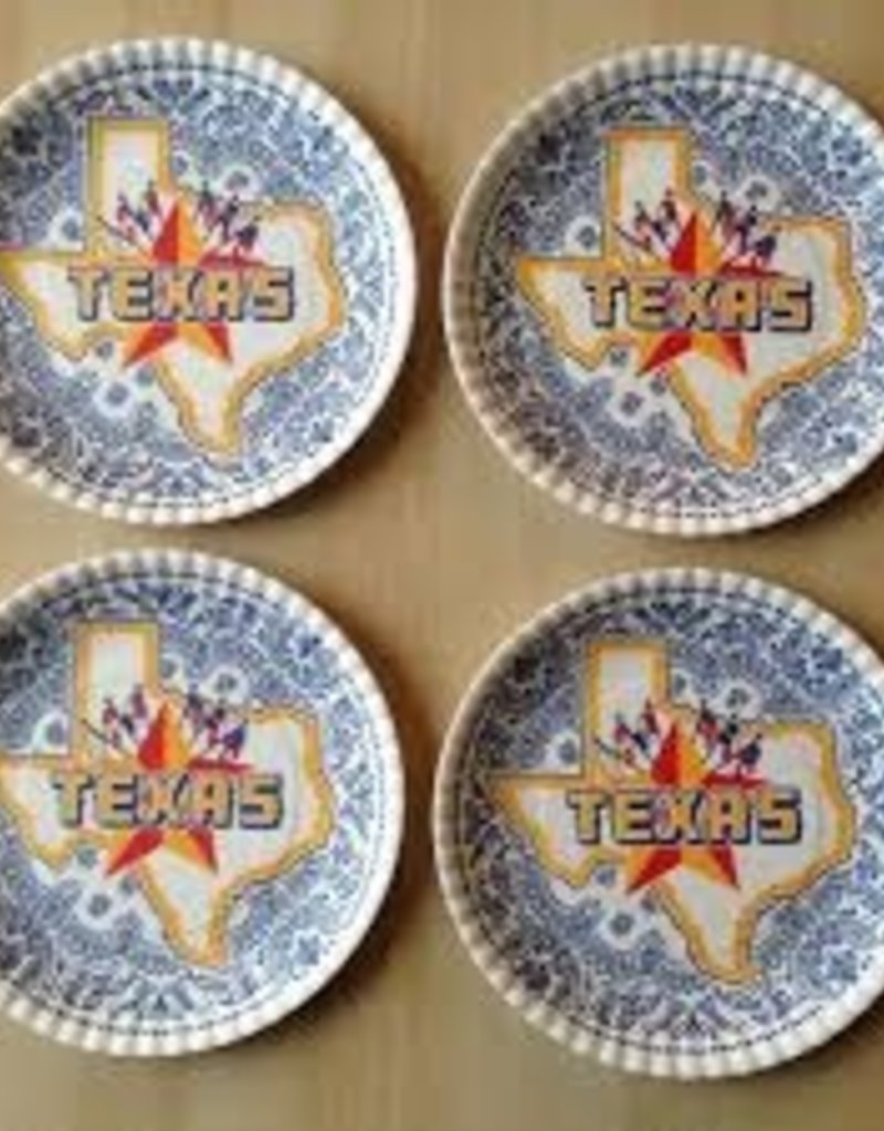 Texas Melamine Plate Set of 4