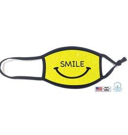 KIDS FACE MASK- 100 % Cotton Yellow Smile
