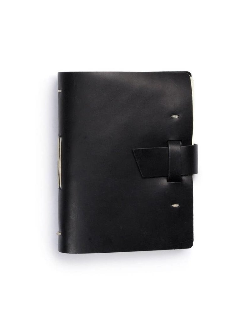 Good Book Leather Journal w/ Buckle- Black