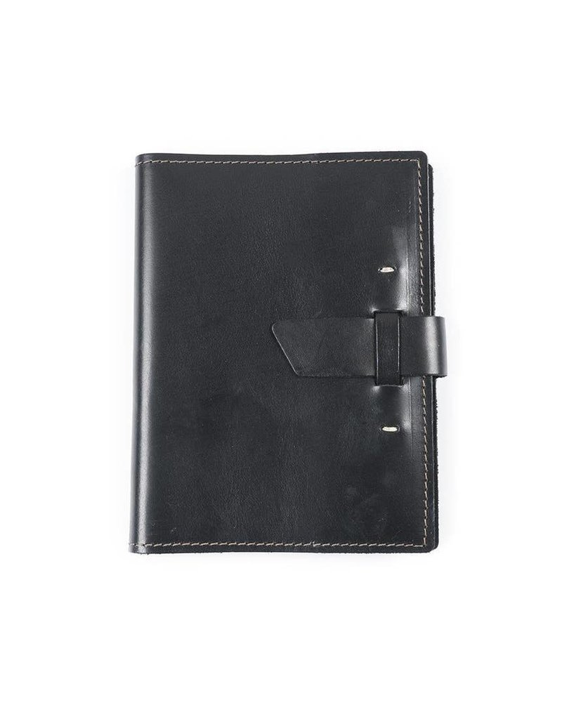 Switchback  Leather Notebook- Black