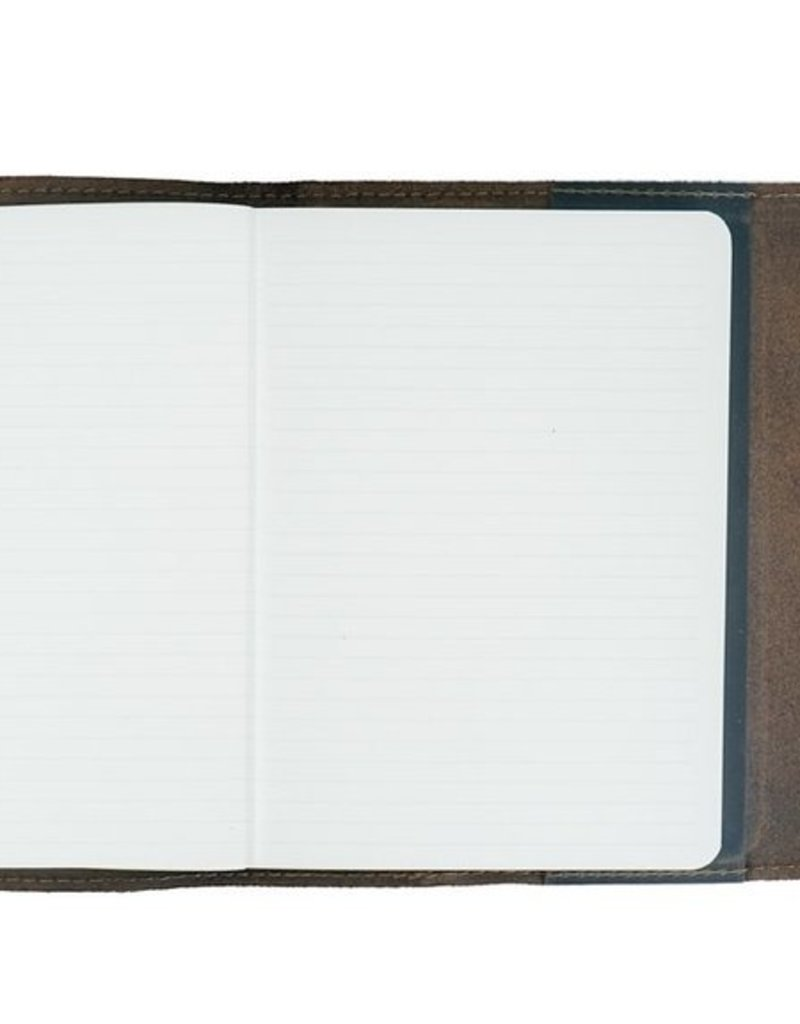 Writers Log Large Leather Notebook- Ocean