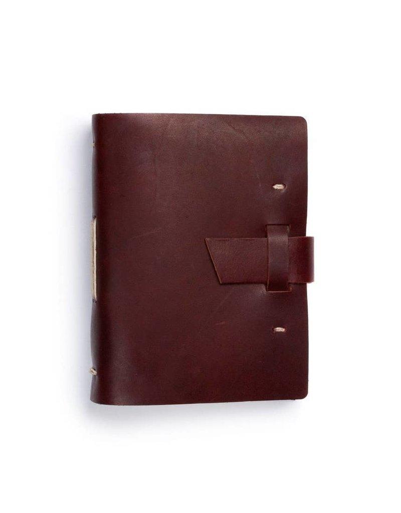 Good Book Leather Journal w/ Buckle- Burgundy