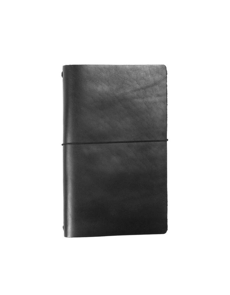 Expedition Point Five Leather Notebook- Black