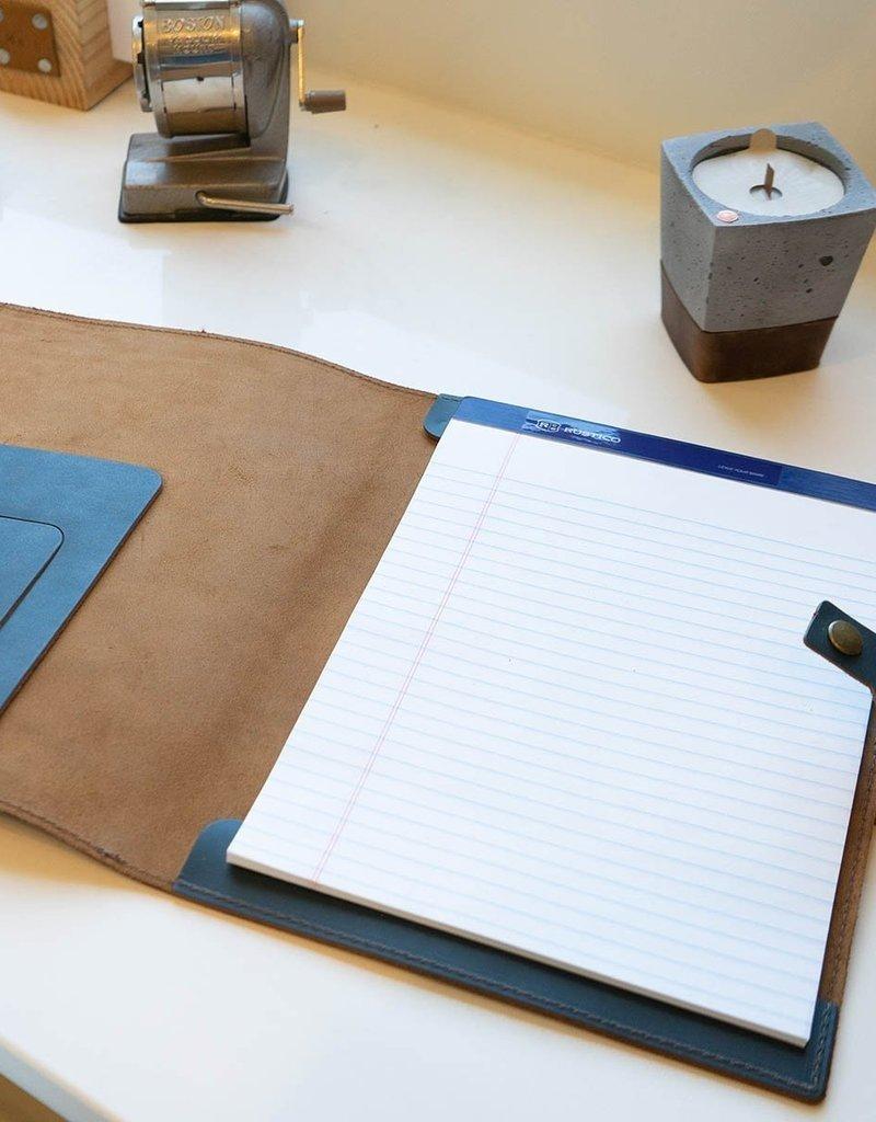 Executive Leather Padfolio-Buckskin