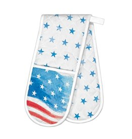 Red, White & Blue Double Oven Glove