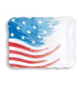 Red, White & Blue Melamine Serveware Cookie Tray