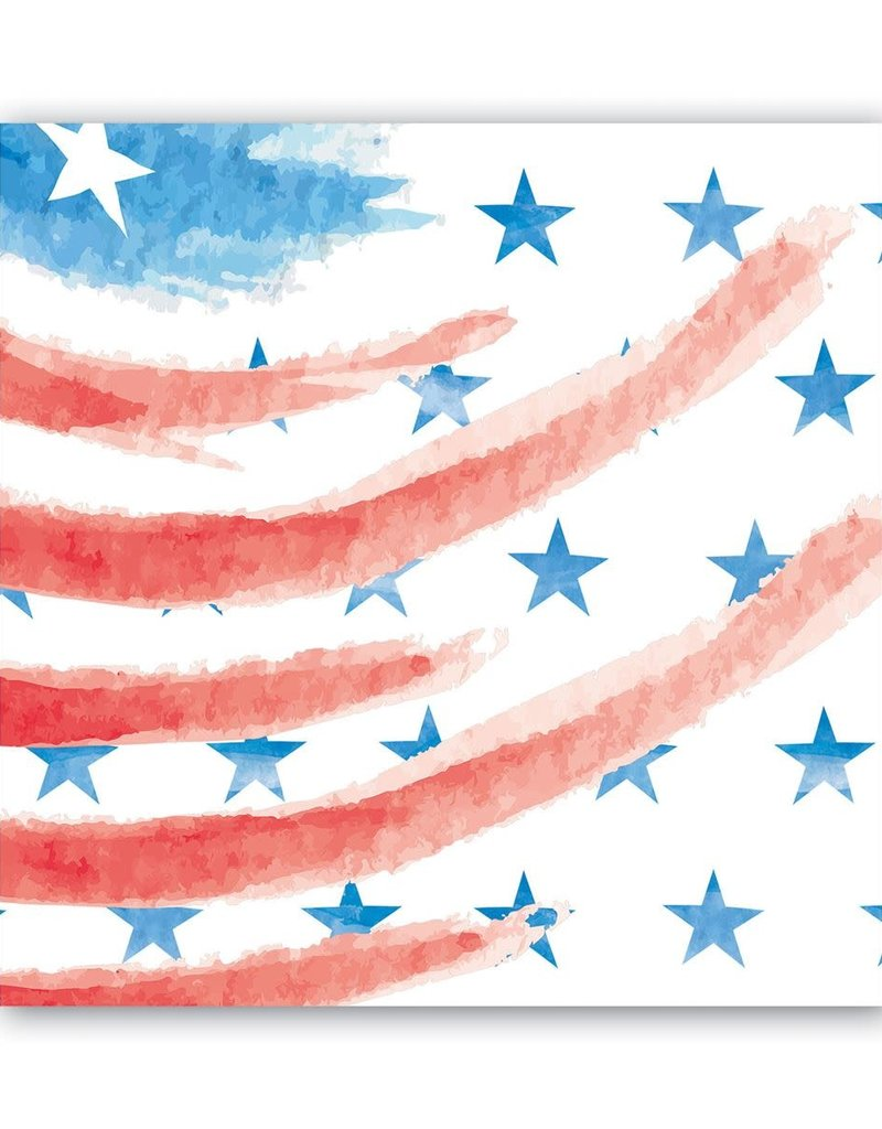 Red, White & Blue Luncheon Napkins