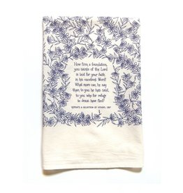 How Firm a Foundation Hymn Tea Towel