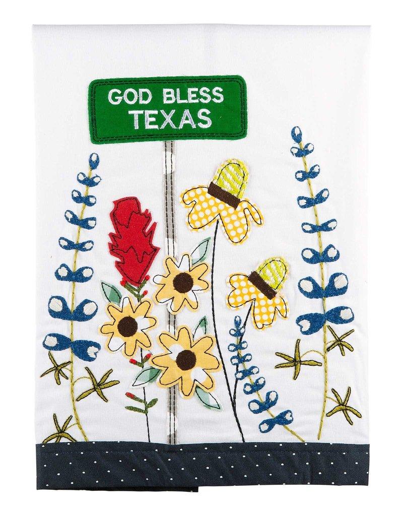 TEXAS WILD FLOWER TEA TOWEL
