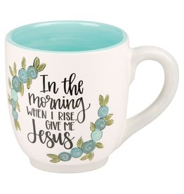 GIVE ME JESUS FLOWER MUG