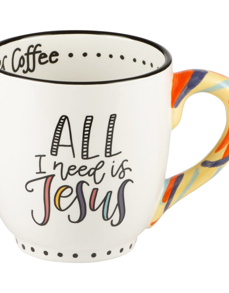 JESUS AND SOMETIMES COFFEE MUG