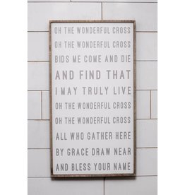 40'' x 22'' Oh The Wonderful Cross Hymn Wall Art