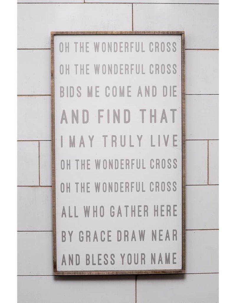 40'' x 22'' Oh The Wonderful Cross Hymn Wall Art