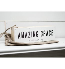 12'' x 4'' Amazing Grace Shelf Sitter