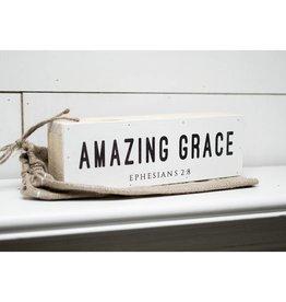 12'' x 4'' Amazing Grace Shelf Sitter