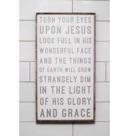 40'' x 22'' Turn Your Eyes Upon Jesus Hymn Wall Art