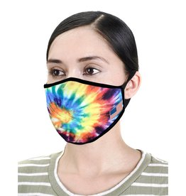 Face Mask- Multicolor Spiral Tiedye
