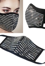 Face Mask- Mesh Sequin Silver