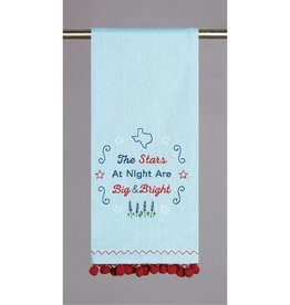 Texas Stars Pom Pom Kitchen Towel