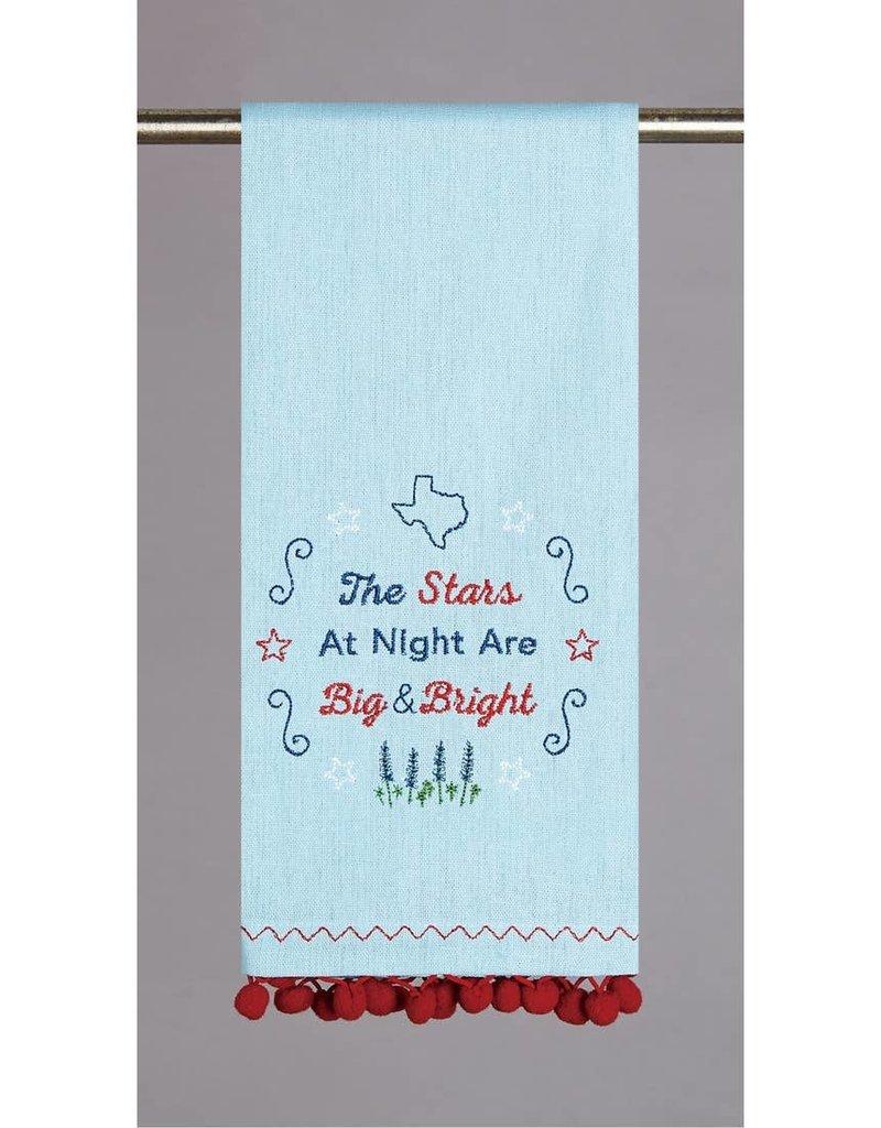 Texas Stars Pom Pom Kitchen Towel