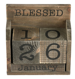 BLESSED IS THE MAN DESK CALENDAR