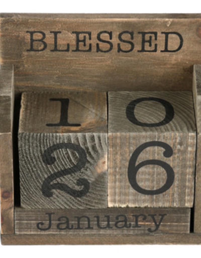 BLESSED IS THE MAN DESK CALENDAR