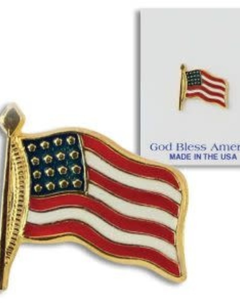 USA Flag Tac Pin, Carded .75""