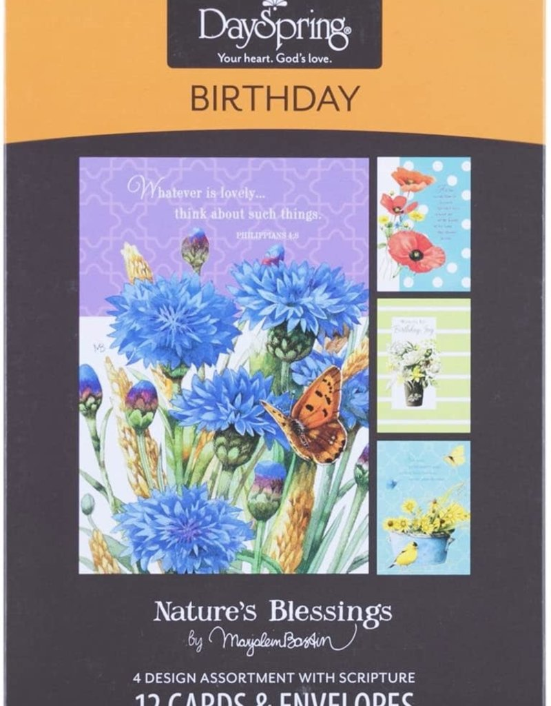 Boxed Card Birthday Nature's Blessings  77544