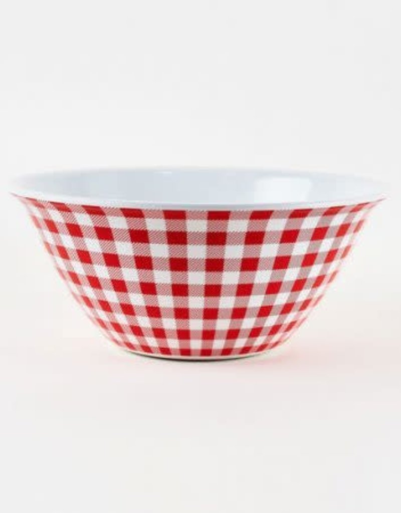 Red Gingham Bowl, Melamine