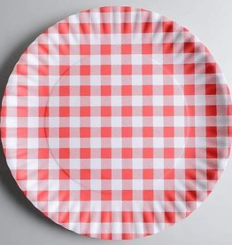 Red Gingham Platter, Melamine