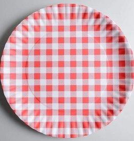 Red Gingham Platter, Melamine