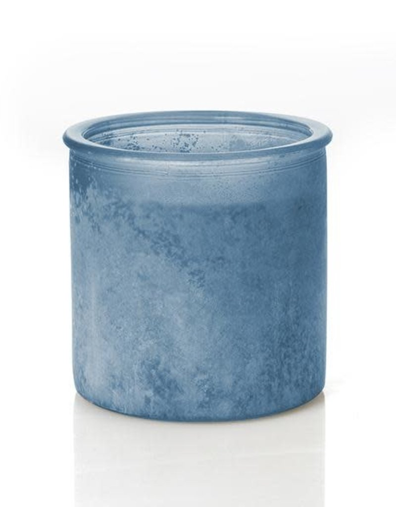 River Rock Candle- Blue (Silver Birch)