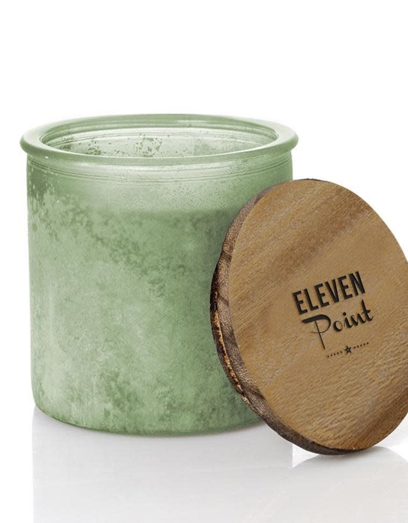 River Rock Candle- Green (Compass)