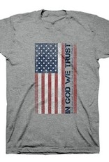 Patriotic- In God We Trust Adult Unisex T Grey