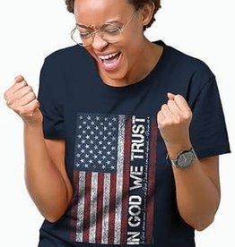 Patriotic- In God We Trust Adult Unisex T Navy