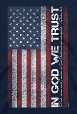 Patriotic- In God We Trust Adult Unisex T Navy