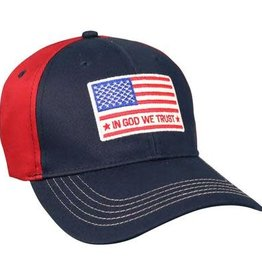 In God We Trust, Flag, Cap, Blue/Red