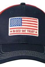 In God We Trust, Flag, Cap, Blue/Red