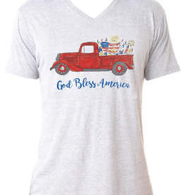 God Bless America V-neck T