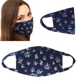 Face Mask- Navy Floral