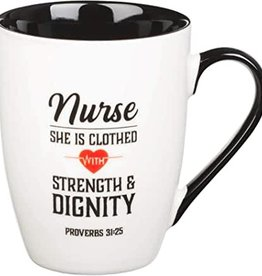 Mug Ceramic Nurse Strength & Dignity