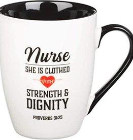 Mug Ceramic Nurse Strength & Dignity