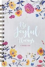 Journal Wire-Bound LG Floral Be Joyful