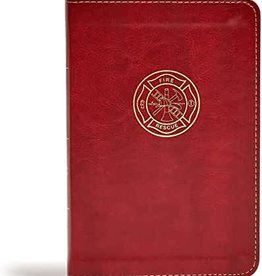 CSB Heroes Bible (Firefighter) Burgundy LeatherTouch