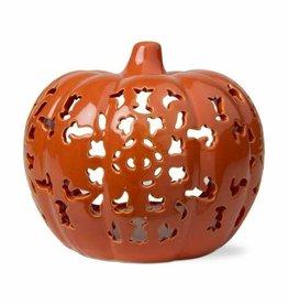 Lace Pierced Pumpkin Lantern