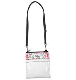 Be Happy Clear Crossbody Bag