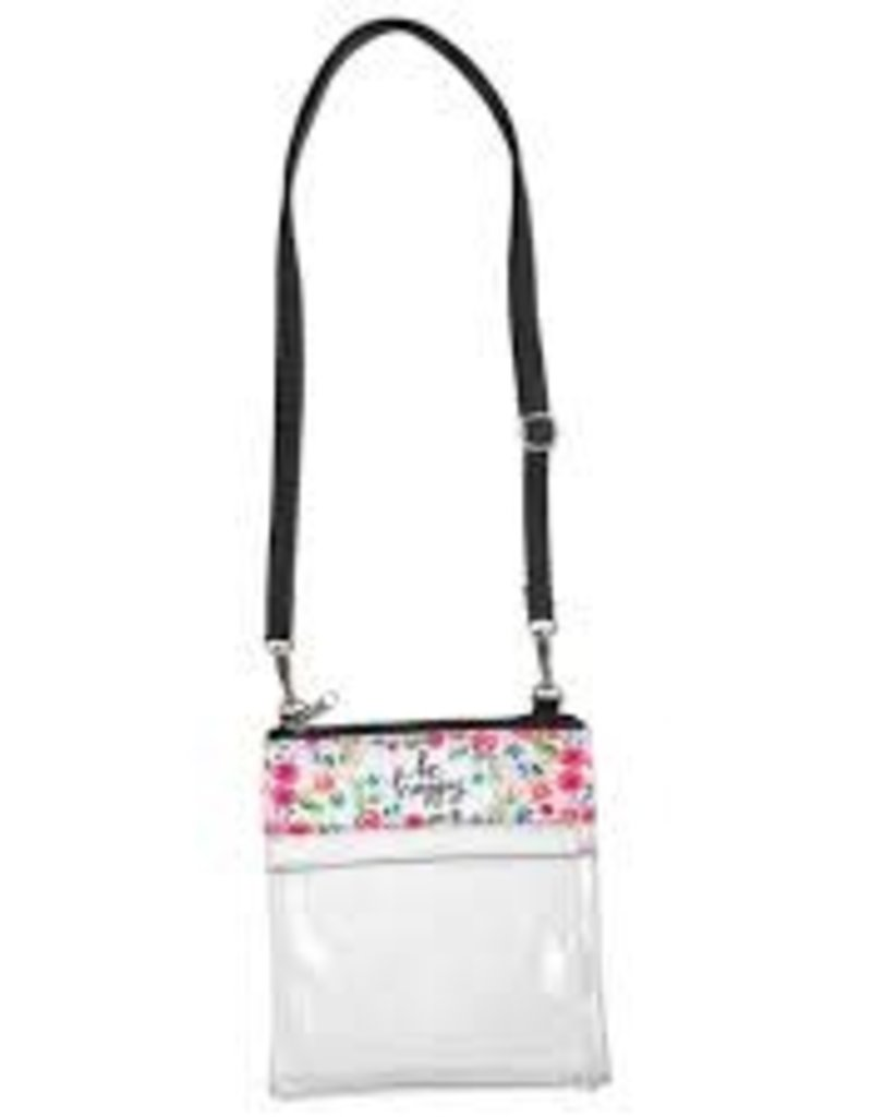 Be Happy Clear Crossbody Bag