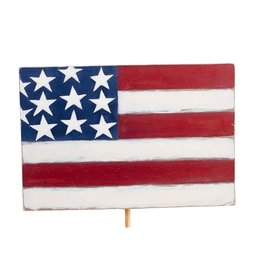 American Flag Wood Topper